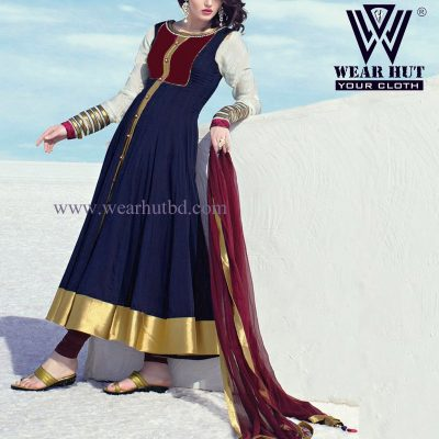 Blue gorgias kurtis Design of wear hut Bangladesh