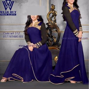 Blue Long Gown for womens . Wear Hut ,Bangladesg