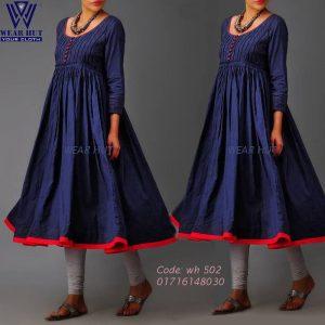 Blue color women's Ripe dress bangladesh