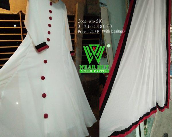 White & Read maroon color stylist long women's kurtis