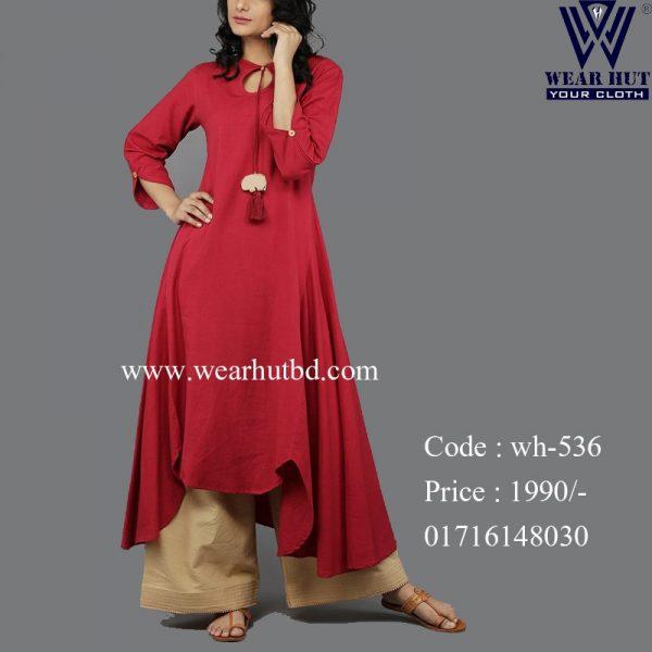 Light maroon color womens new stylish kurtis wear hut