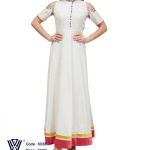 Embroidery White Long Dress of Wear Hut 2017