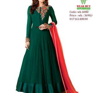 Womens fashion for nline shopping Green Long dress kurtis