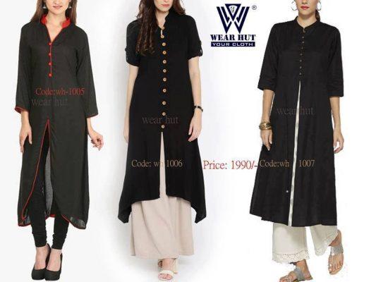 Best online black kurtis of wear hut womens -fashion