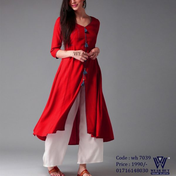 Best red kurtis designfor women's online shopping bd