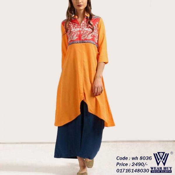 Long kurti design for women's online store in BD wear