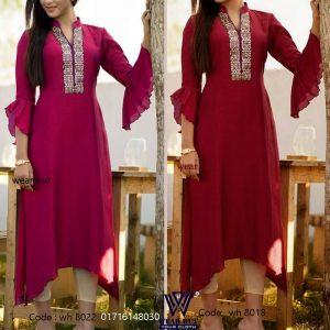Casual summer kurti kameez design embroidery dress online shopping bd