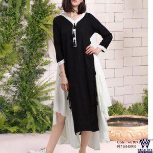 Black &White summer women's dress online shopping bd