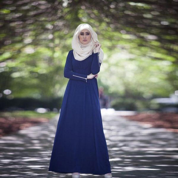 Blue golden Georgette long borka design fashion womens wear bd