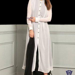 White long shirt style kurti design womens dress/cloth online shopping wear bd