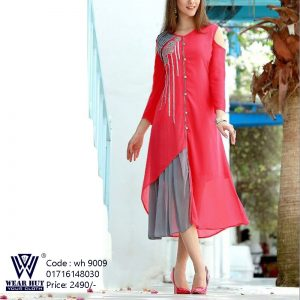 Casual colorfull embroidery short kurti wear for womens online shopping bd