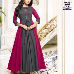 Simple gown for girls long kurti design for girls 2021