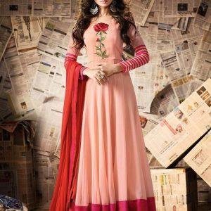 Pink and lite pink combined long kurti type anarkoli dress 2018 new trend wearhut jennifer winget dress