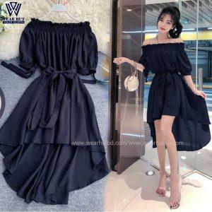 Long Tops Design for Girls in Black Color