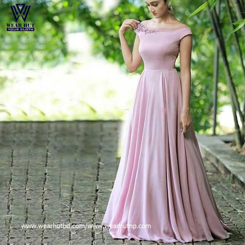 simple gown design for girls