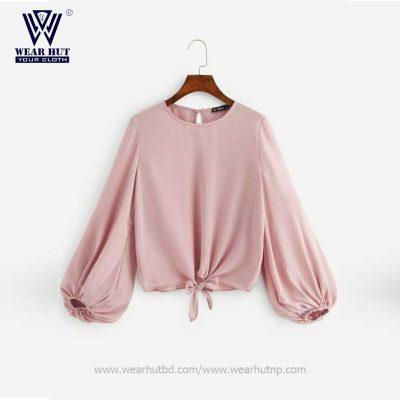 Simple short tops design for girls