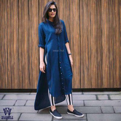simple long kurti design long tops design for girl women's wear hut bd