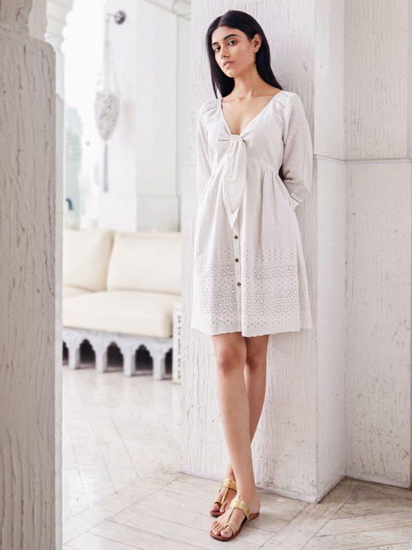 FRONT-TIE DRESS design for girls online shopping USA Nepal BD Pakistan