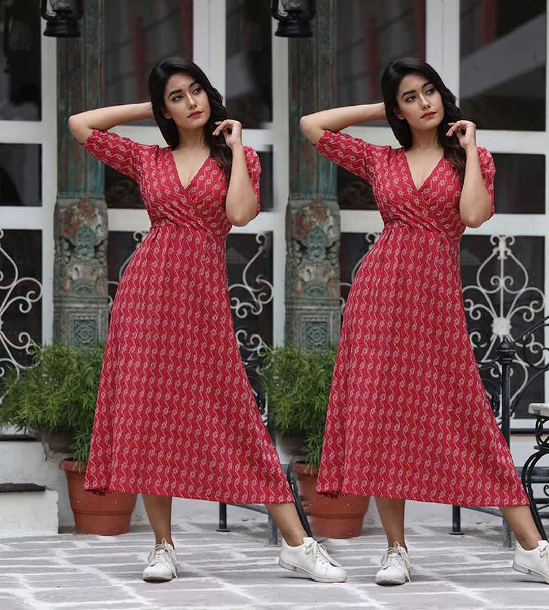 new latest long kurti design for women's girls babys